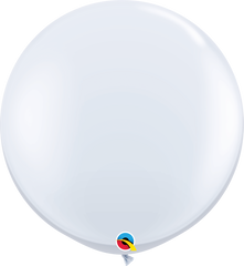 White 3ft Round Balloons