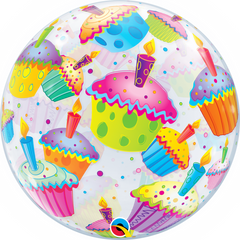 Colourful Cupcakes Bubble Balloon