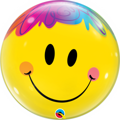 Bright Smile Face Bubble Balloon