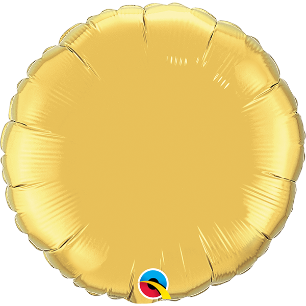 "18"" Gold Circular Foil Balloon"