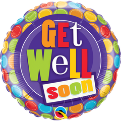 Get Well Dot Patterns Balloon