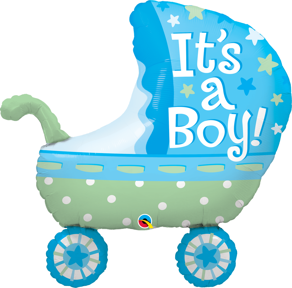 it s a boy baby stroller balloon qualatex balloonatics designs