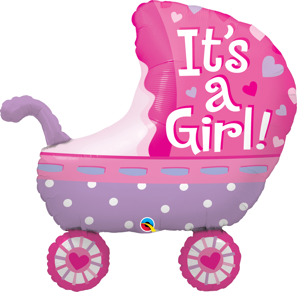 It's A Girl Baby Stroller Balloon