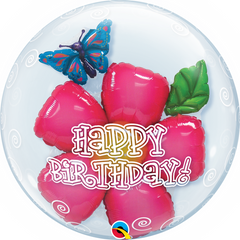 Birthday Flower Bubble Balloon