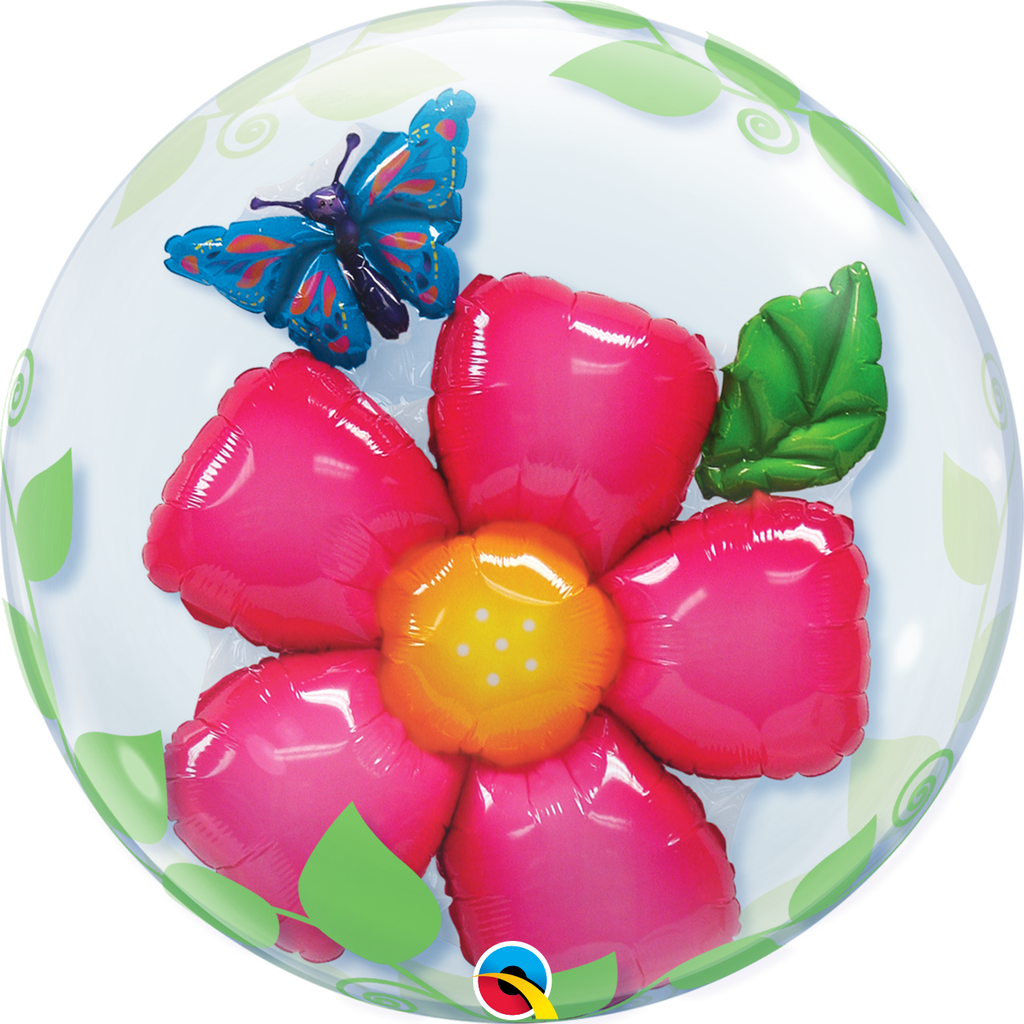 Flower & Leaves Bubble Balloon
