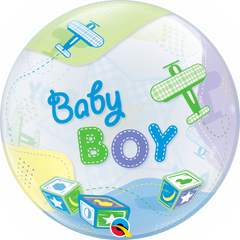 Baby Boy Airplanes Bubble Balloon