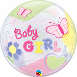 Baby Girl Butterflies Bubble Balloon