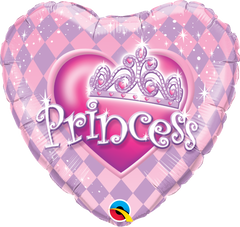 Heart-shaped Princess Tiara Balloon