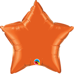 "20"" Orange Star Foil Balloon"