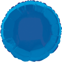 "18"" Blue Circular Foil Balloon"