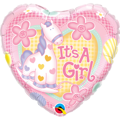 It's A Girl Soft Pony Balloon