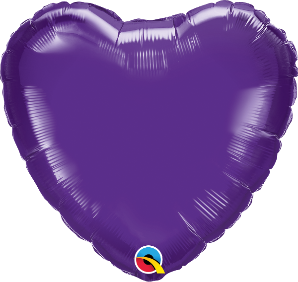 "18"" Quartz Purple Heart Foil Balloon"