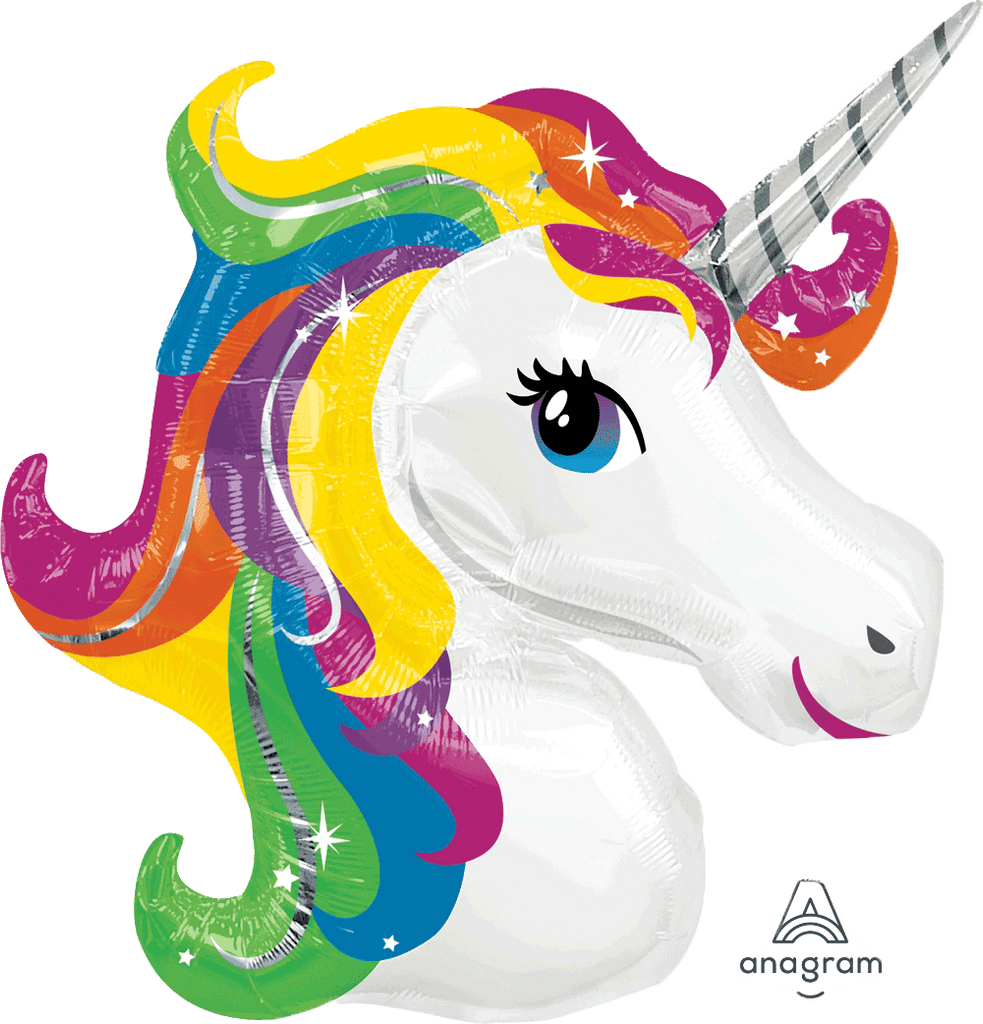 Rainbow Unicorn Supershape Balloon