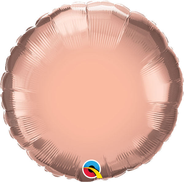 18'' Rose Gold Circular Foil Balloon