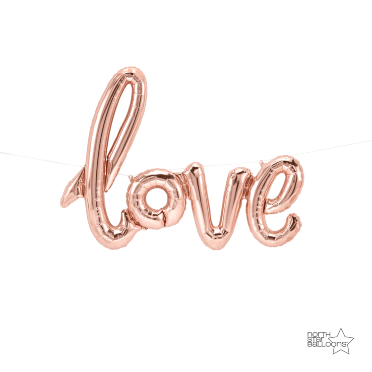 "Rose Gold ""Love"" Foil Balloon Letters"