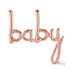 "Rose Gold ""Baby"" Foil Balloon Letters"