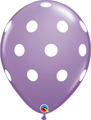 "Big Polka Dots Fashion Spring Lilac 11"" Balloons"