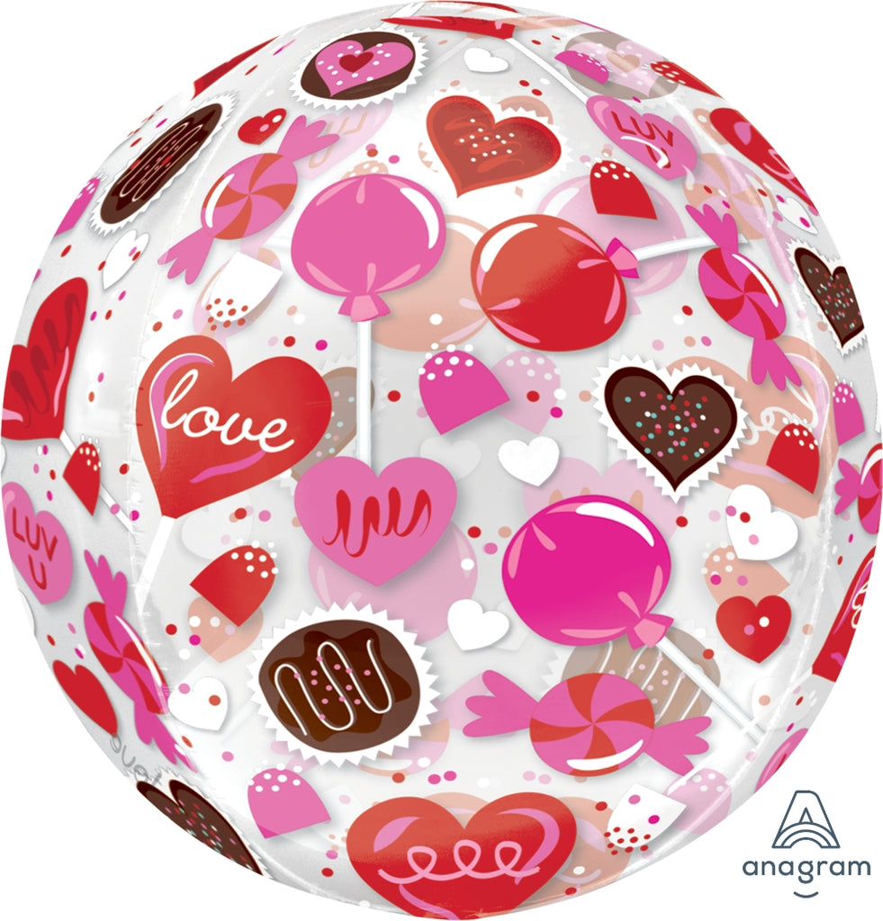 Sweet Candy Orbz Clear Balloon