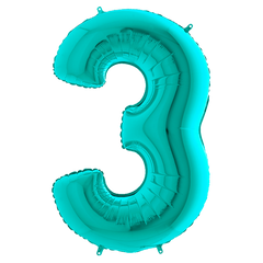 Tiffany Blue 3 Megaloon Balloon Numbers