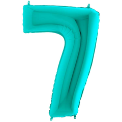 Tiffany Blue Number 7 Megaloon Balloon Numbers