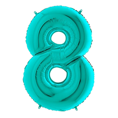 Tiffany Blue Number 8 Megaloon Balloon Numbers