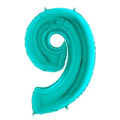 Tiffany Blue Number 9 Megaloon Balloon Numbers