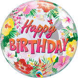 Tropical Birthday Party Bubble Balloon
