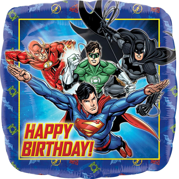 Justice League Happy Birthday Balloon