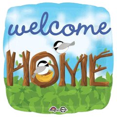 Welcome Home Chickadees Foil Balloon