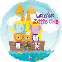 Welcome Little One Animal Boat Balloon