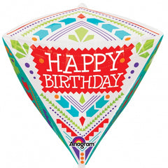 Scandi Happy Birthday Diamond Balloon