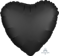 "18"" Black Heart Foil Balloon"