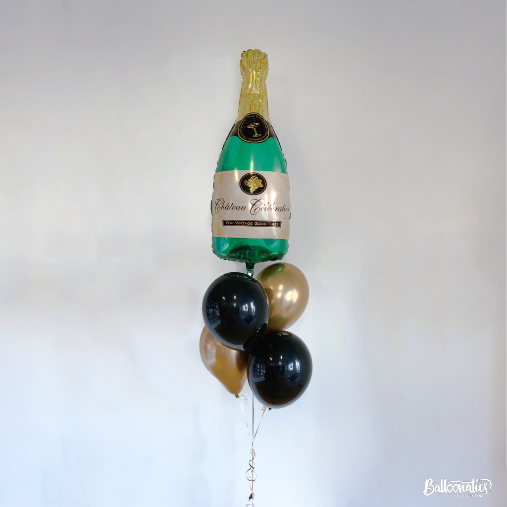 Bubbly Champagne Balloon Bundle of 5