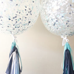 3 ft. Confetti Balloons with Tassels