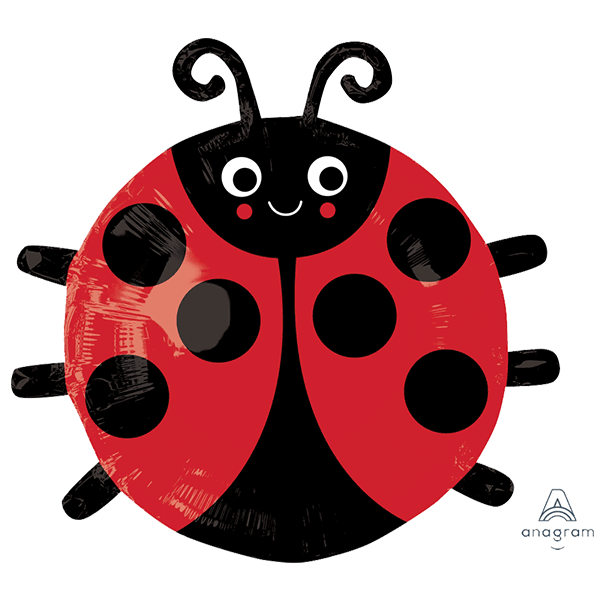 Happy Lady Bug Foil Balloon