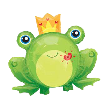 Flashing Kiss Frog Prince Balloon