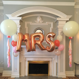 Rose Gold Letter W Foil Balloon Letters