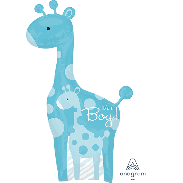Safari Baby Boy Giraffe Balloon