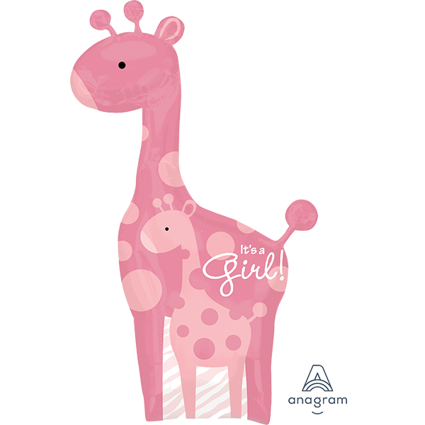 Safari Baby Girl Giraffe Balloon