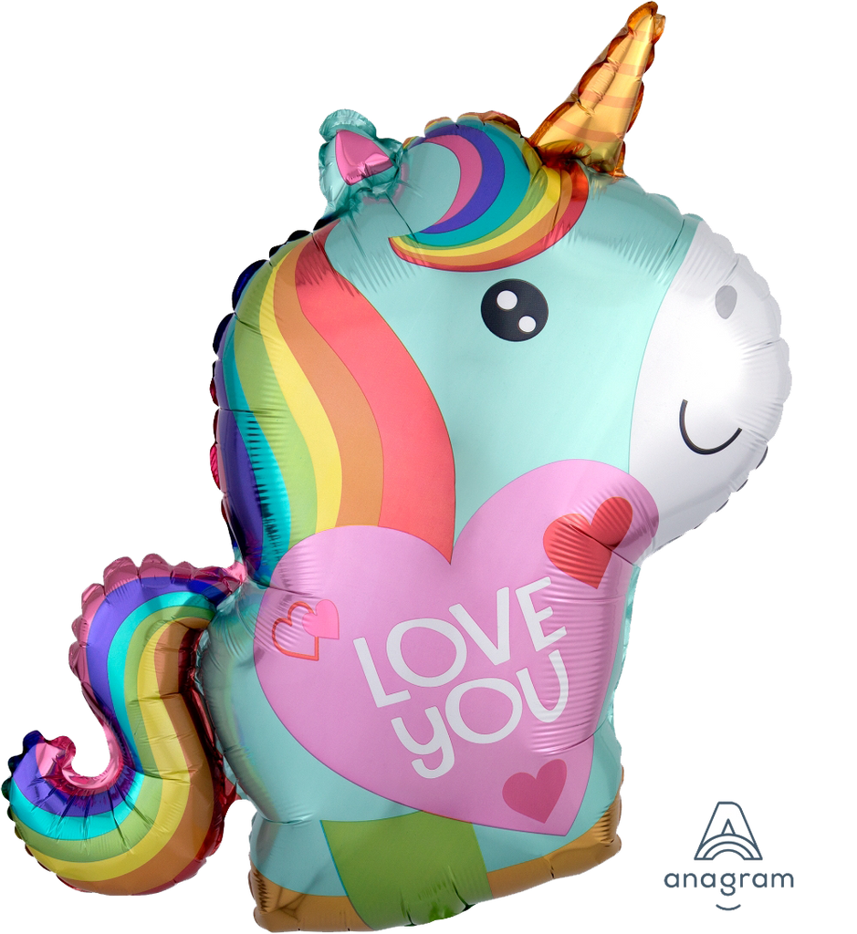 Jr. Shape Unicorn Love Balloon