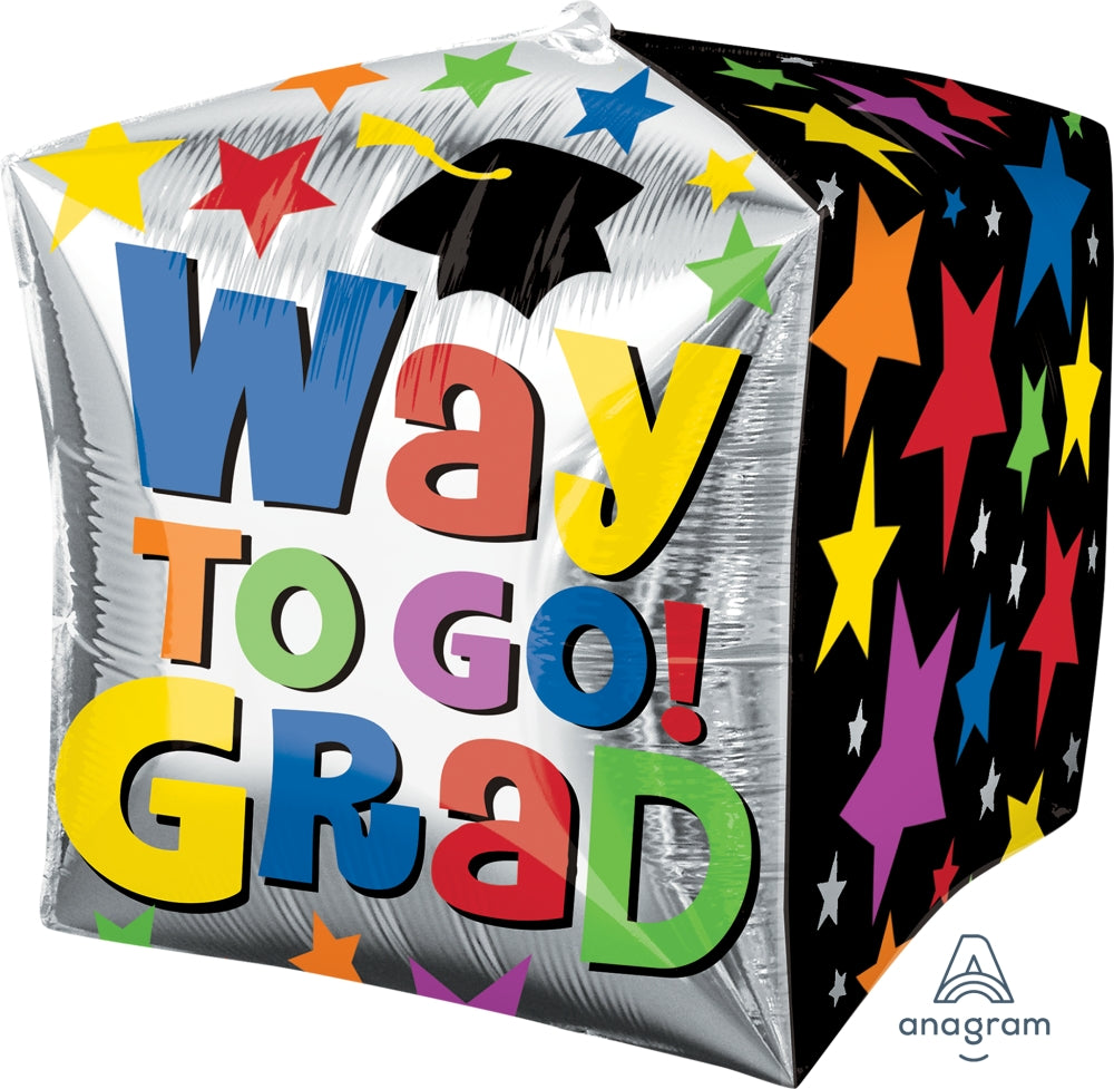 Way To Go Grad Stars Cubez Balloon