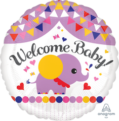 Welcome Baby Streamers Balloon