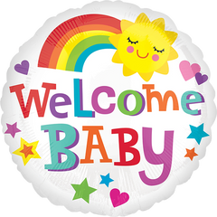 Welcome Baby Bright & Bold Balloon