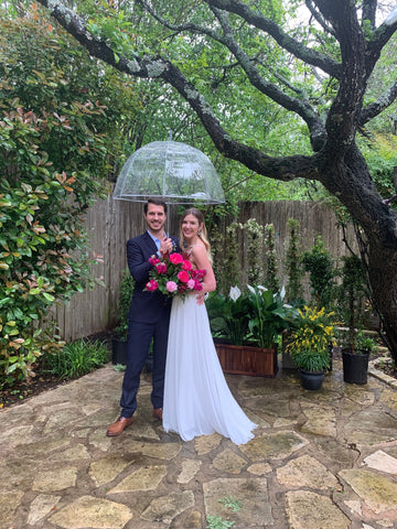 Inside real bride, Allison's intimate backyard wedding day
