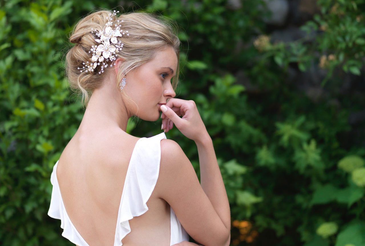 shop wedding headpieces & jewelry | dareth colburn bridal collection