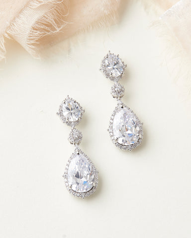 Dareth Colburn Wedding Blog | Emerson CZ Bridal Earrings | Wedding Accessories