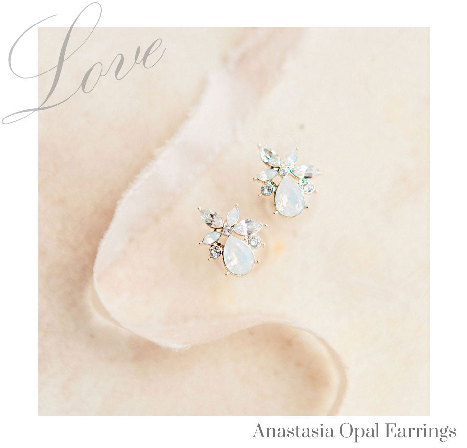 Opal Bridal Earrings for Wedding