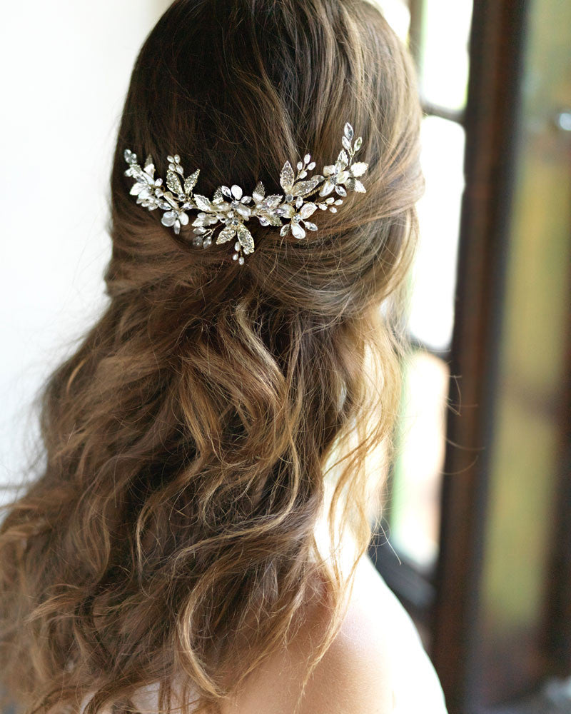 Rhinestone & Pearl Wedding Headpiece