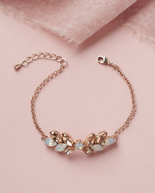 Rose Gold & Opal Wedding Bracelet