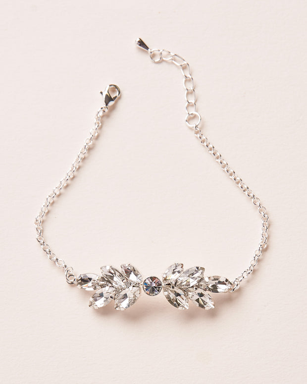 Silver Crystal Wedding Bracelet